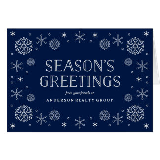 Seasonal Snowflakes Corporate Holiday Card