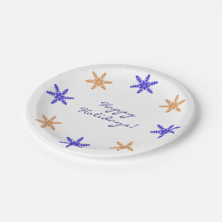 Holiday And Seasonal Snowflake Plates | Zazzle