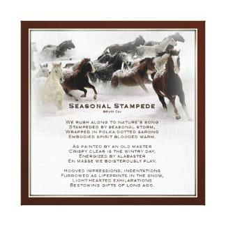 Seasonal Stampede Canvas Print