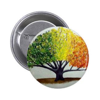 Seasonal Tree 2 Inch Round Button