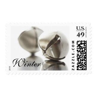Seasonal Winter Wedding Holiday Jingle Bells Postage