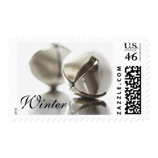 Seasonal Winter Wedding Holiday Jingle Bells Postage Stamps