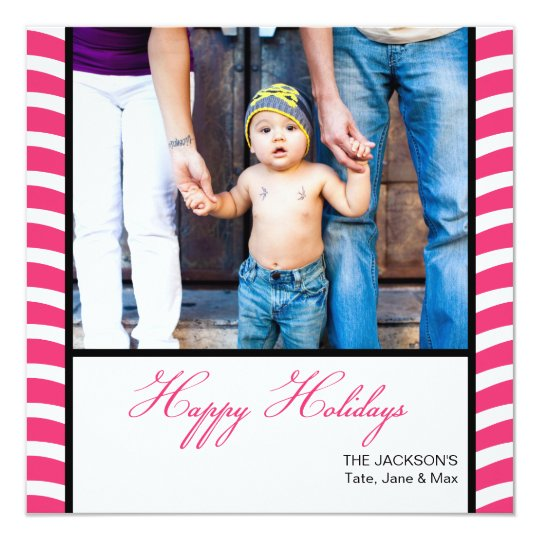 Seasonally Modern: Fuschia Photo Card