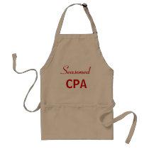 Seasoned CPA Funny Accountant Name Adult Apron