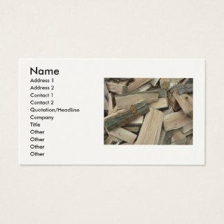 Seasoned Firewood Business Card
