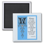 Seasoned Initials Winter 2 Inch Square Magnet