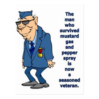 Seasoned Veteran Postcard