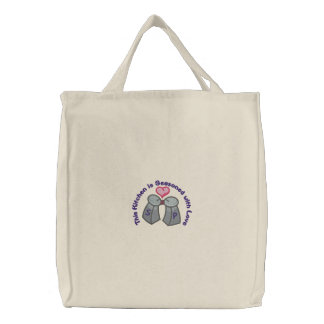 Seasoned With Love Embroidered Tote Bag