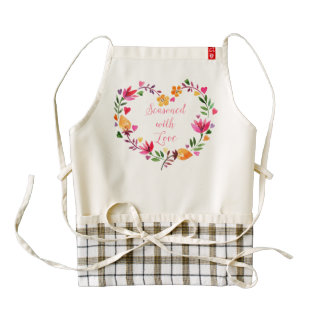 Seasoned With Love Zazzle HEART Apron