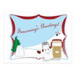 Seasoning's Greetings Whimsical Holiday Postcards