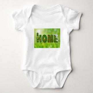 seasons-846051 HOME GREEN TYPOGRAPHY BACKGROUNDS W Baby Bodysuit