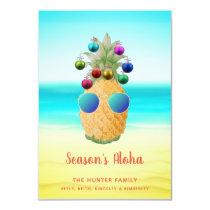 Season's Aloha Christmas Pineapple  | Card