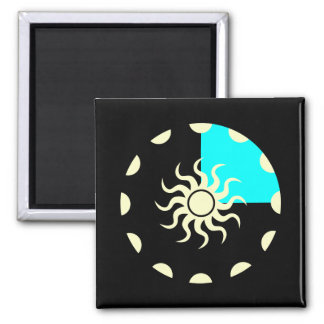 Seasons and the Sun Winter 2 Inch Square Magnet