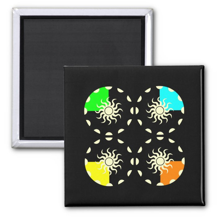 Seasons and the Sun Year 2 Inch Square Magnet