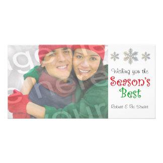 Season's Best Customizable Photo Card