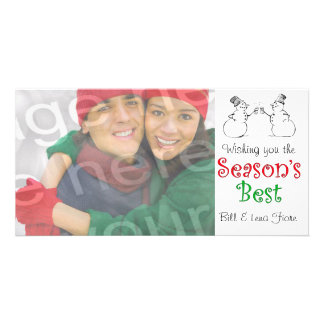 Season's Best Customizable Photo Card