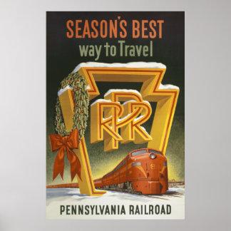 Season's Best Pennsylvania Railroad Poster