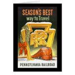 Season's Best Way To Travel Pennsylvania Railroad Cards