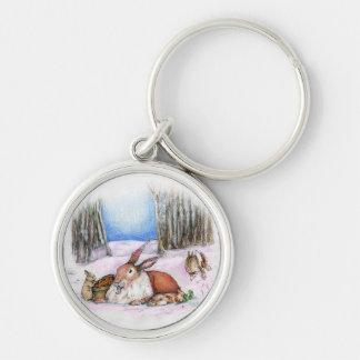Season's Bunny Keychain