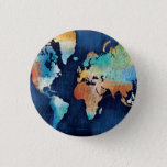 "Seasons Change Button<br><div class=""desc"">&#169; Michael Mullan / Wild Apple. Multi colored map of the world</div>"