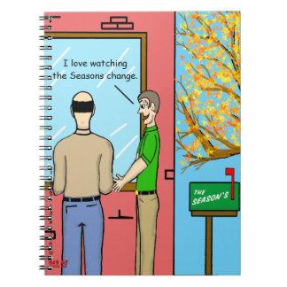 """Seasons Change"" Spiral Notebook"