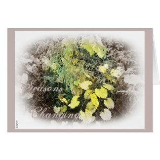 Seasons Changing Autumn Equinox Greeting Card