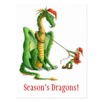 Season's Dragon postcard