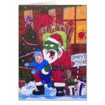 Season's Eatings Zombie Santa Greeting Card