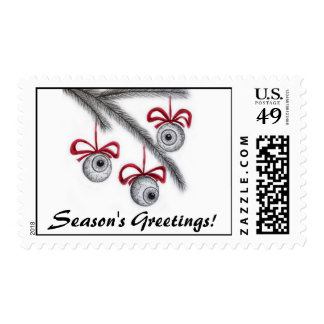 Season's Eyeball Greetings! Postage