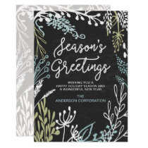 Season's Flourishes Business Holiday Greeting Card