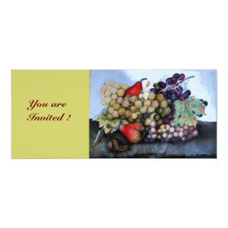 SEASON'S FRUITS 1 4X9.25 PAPER INVITATION CARD