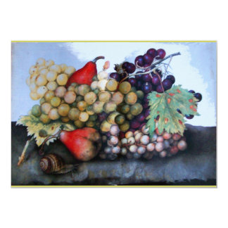 SEASON'S FRUITS 1 - GRAPES AND PEARS 5X7 PAPER INVITATION CARD