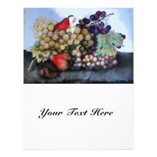 """SEASON'S FRUITS 1 - GRAPES AND PEARS 8.5"""" X 11"""" FLYER"""