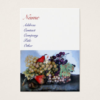 SEASON'S FRUITS 1 - GRAPES AND PEARS BUSINESS CARD