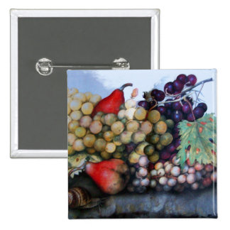 SEASON'S FRUITS 1 - GRAPES AND PEARS BUTTON