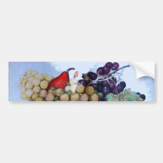 SEASON'S FRUITS 1 - GRAPES AND PEARS CAR BUMPER STICKER