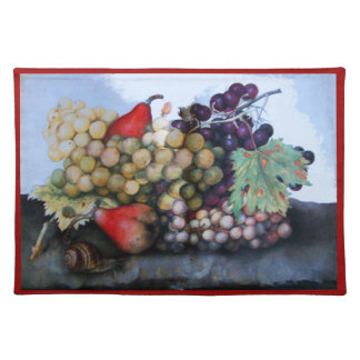 SEASON'S FRUITS 1 - GRAPES AND PEARS CLOTH PLACEMAT