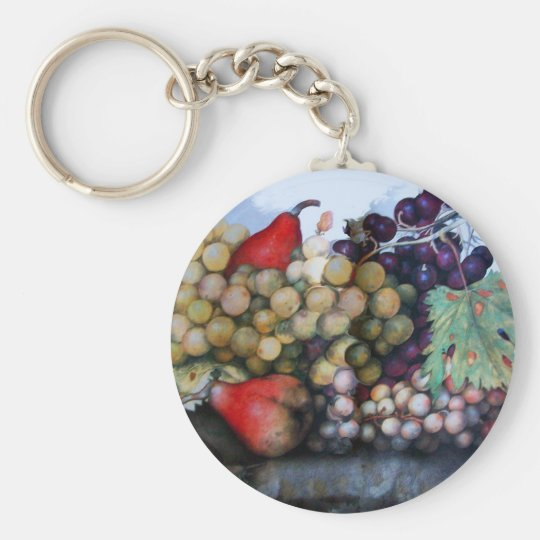 SEASON'S FRUITS 1 - GRAPES AND PEARS KEYCHAIN