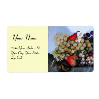 SEASON'S FRUITS 1 - GRAPES AND PEARS SHIPPING LABEL