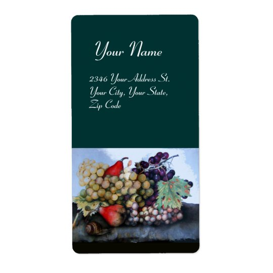 SEASON'S FRUITS 1 - GRAPES AND PEARS LABEL