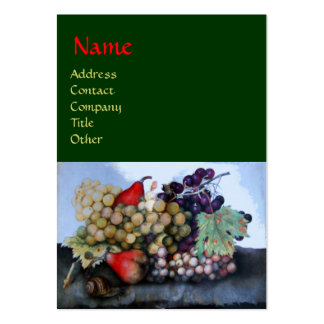 SEASON'S FRUITS 1 - GRAPES AND PEARS LARGE BUSINESS CARDS (Pack OF 100)