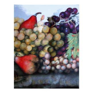 SEASON'S FRUITS 1 - GRAPES AND PEARS LETTERHEAD