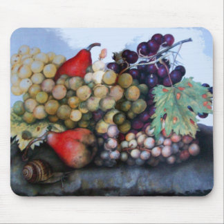SEASON'S FRUITS 1 - GRAPES AND PEARS MOUSE PAD