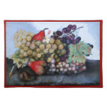 SEASON'S FRUITS 1 - GRAPES AND PEARS CLOTH PLACE MAT