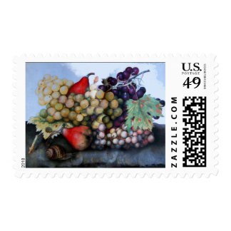 SEASON'S FRUITS 1 - GRAPES AND PEARS POSTAGE STAMP