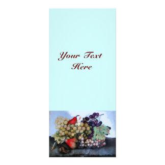 SEASON'S FRUITS 1 - GRAPES AND PEARS RACK CARD