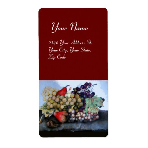 SEASON'S FRUITS 1 - GRAPES AND PEARS red Label