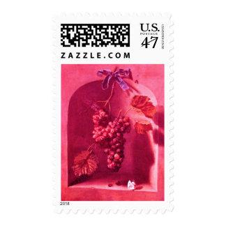 SEASON'S FRUITS 1 -PROSPERITY, pink fuchsia Stamp