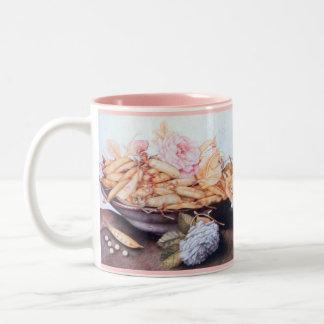 SEASON'S FRUITS 6 - BEANS AND ROSES Two-Tone COFFEE MUG