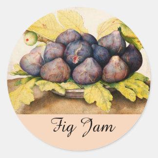 SEASON'S FRUITS / FIGS Preserve Canning Jar Classic Round Sticker